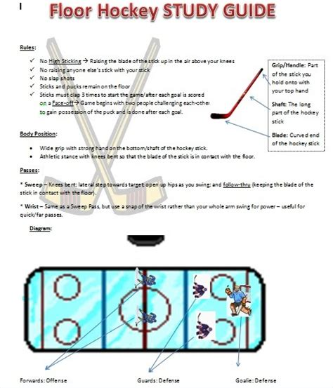 Floor Hockey Unit Plan New Primary 6 Mr Quinn Awesome Floor Hockey | floor hockey rubric meze blog