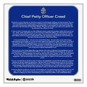 chief petty officer creed navy chief navy pride