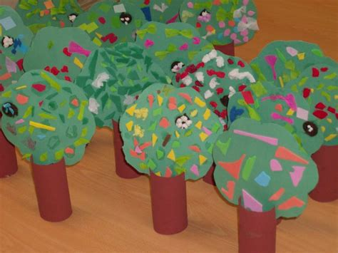 Paper Roll Crafts For Preschoolers - trees preschool craft stuff