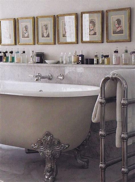 clawfoot bathtub shelf claw foot tub shelf with vintage bottles interiors