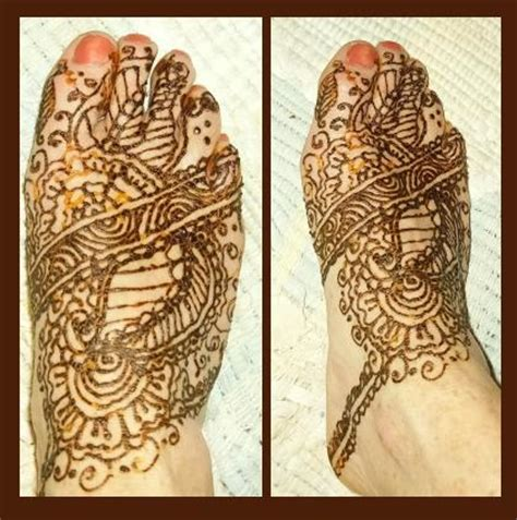 elaborate henna design on foot by henna tattoos ogden utah