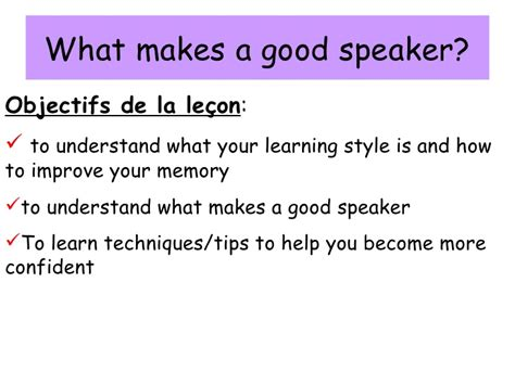 what makes a good home what makes a good speaker