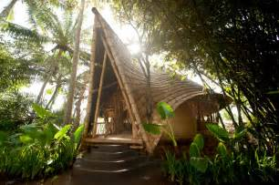 Cheapest Style House To Build Bamboo Houses Shape Ibuku S Green Village Community In