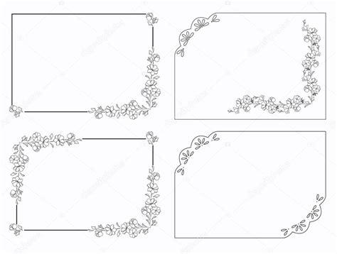 cornici bianco e nero set di cornici rettangolari con motivi floreali cornice d