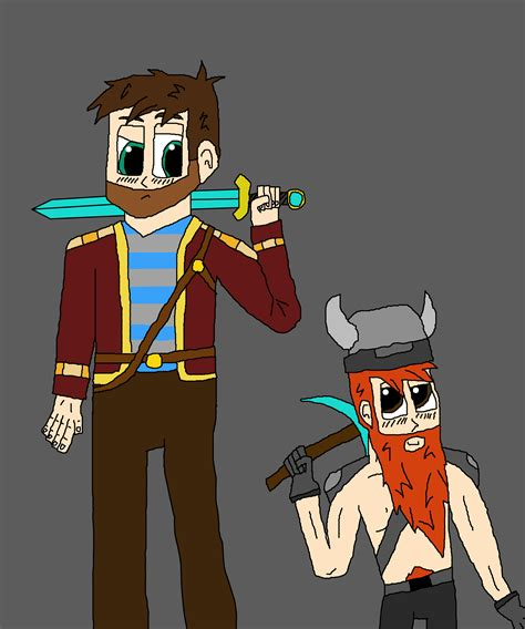 sketch version yogscast fanart minecraft by yogscast images lewis and simon minelore style hd
