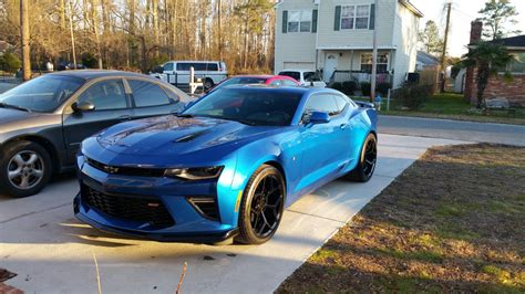 Wheels 10 Camaro Ss Blue z 28 rims on a hyper blue 2016 camaro ss