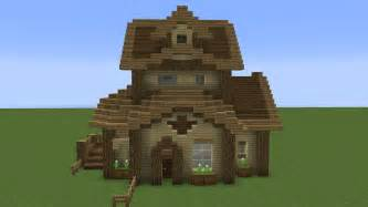 wooden minecraft house