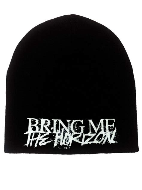 Bring On The Beanies by Bring Me The Horizon Horror Logo Beanie Hat Buy Bring