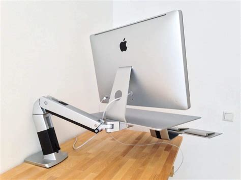 secure imac to desk ergotron workfit a standing worstation like a terminator