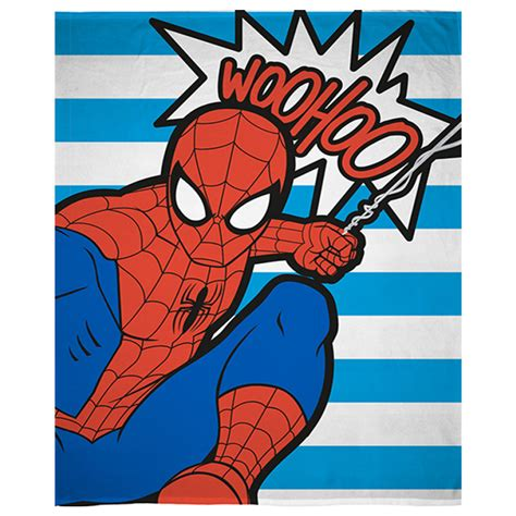 Brown Duvet Set Marvel Spiderman Pop Art Throw Harry Corry Limited