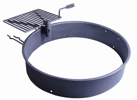 pit ring with grill 36 quot steel ring with cooking grate cfire pit park