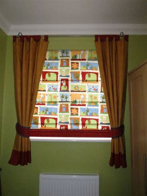 Baby S Nursery With Curtains Blinds And Shelves Nursery Blinds And Curtains