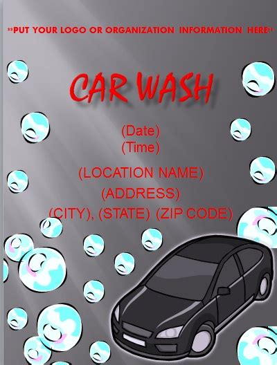 car wash template flyer and resume templates our free flyer templates are