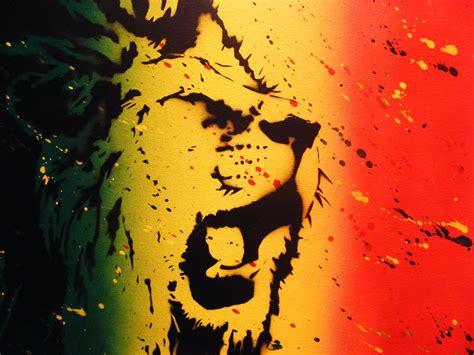 spray painting using stencils rasta splatter spray paint stencil by