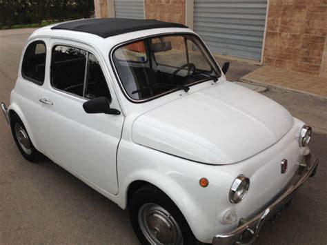Fiat 500 Luxury 1970 Fiat 500 110f Model L Luxury White For Sale In Kearny