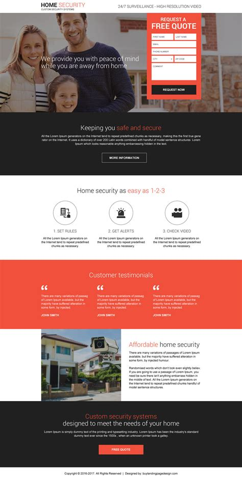 home page design sles home security system free quote reslp 10 security