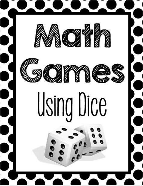 free printable math games using dice free fun list of math games for 3rd 5th grades using