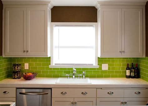 green subway tile kitchen backsplash lush 3x6 lemongrass green glass subway tile subway