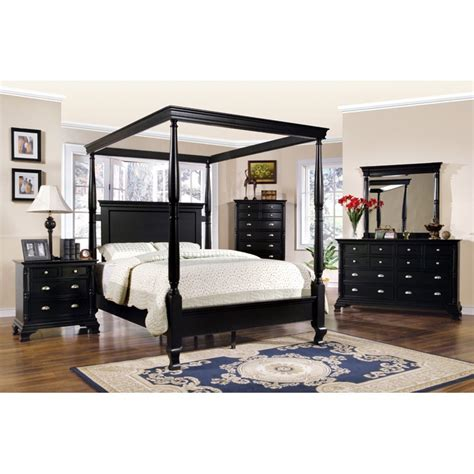 Wayfair Bedroom Ls by St Regis Bedroom Set In Black Finish Dcg Stores