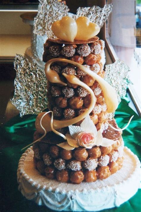 Wedding Pastries by Real Wedding Cake With Puffs Wedding Cake