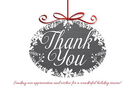 simple thank you ornament christmas cards from cardsdirect