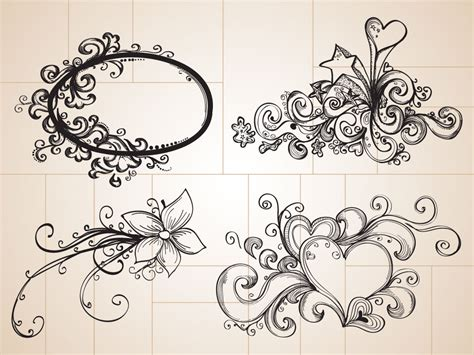 hand drawn tattoo designs doodle drawings these cool decorative