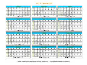 2015 one page calendar template printable 2018 calendar on one page calendar template 2016