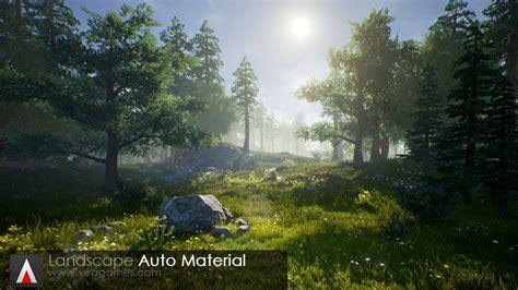 engine 4 landscape lighting ue4 pack landscape auto material