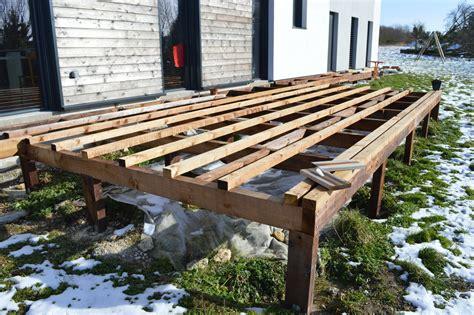 Construire Terrasse Bois Sur Pilotis terrasse bois sur pilotis m aub s construction
