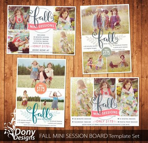 mini session templates for photoshop fall mini sessions buy 1 get 1 and minis on pinterest