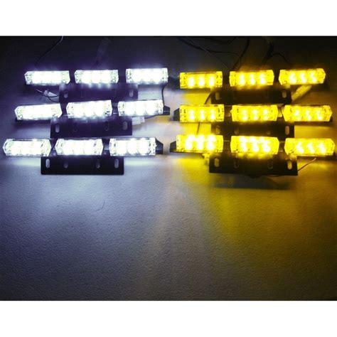 emergency vehicle grille lights 54 led emergency vehicle strobe lights lightbars deck dash