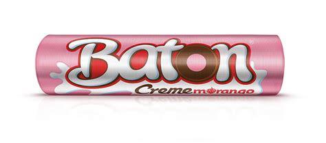 Baton Garoto Creme Morango (Chocolate with Creamy Strawberry Flavour) Milk Chocolate 30x0.56oz