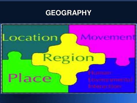 themes of geography list the five themes of geography