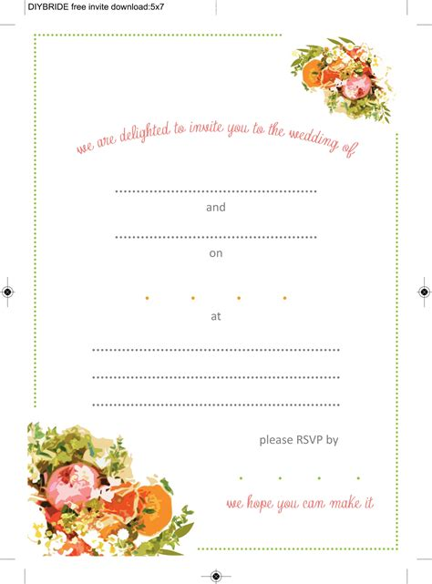 printable wedding invitations templates wedding invitation templates that are and easy to