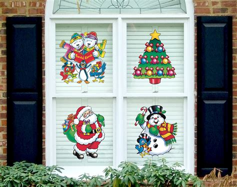 137 christmas window clings
