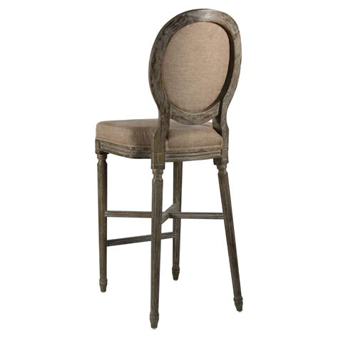 Country Bar Stools by Medallion Oak Country Bar Stool In Copper Linen Kathy Kuo Home