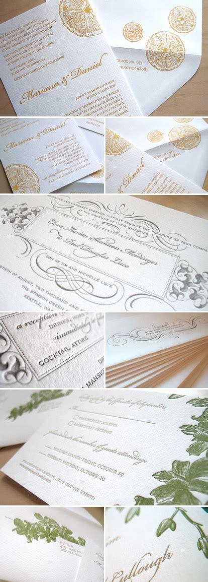 wedding invitation sles letterpress wedding invitation sales junebug weddings