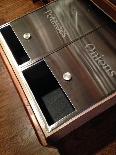 Potato Drawer built to fit stainless steel potato and drawer inserts
