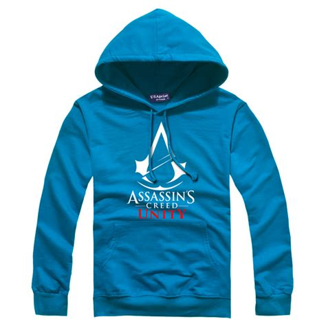 Hoodiesweater Assasin Creed Unity fashion new mens hoodies casual sleeve pullover s assassins creed unity hoody 6 colors