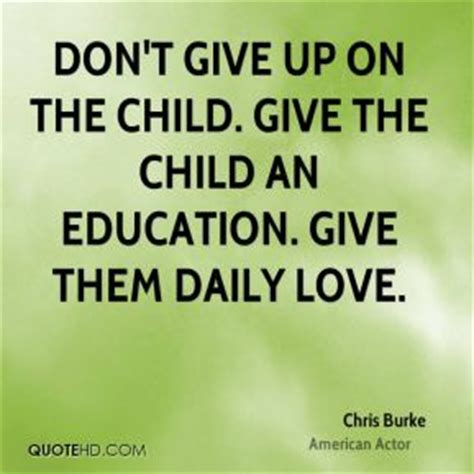 Is Giving Up Baby by Chris Burke Quotes Quotehd