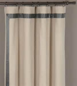 Winter Kitchen Curtains Winter White Curtains With Gray Silk Banding Mitered Niche Witcoff Curtain Panel Left