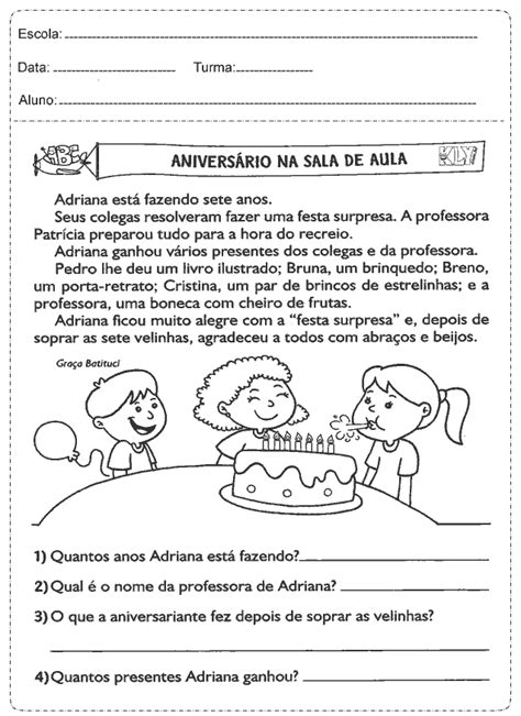 Atividades de Português para o 3º ano para imprimir - Sala