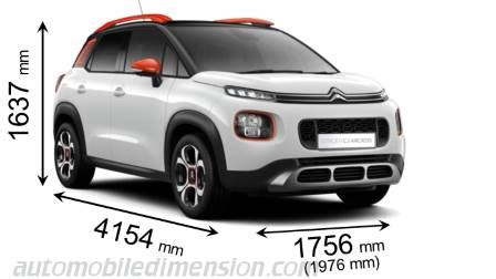 citroen c3 aircross 2018 dimensions, boot space and interior