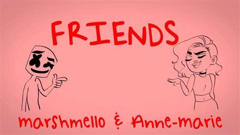 more than friends testo marshmello friends lyric official