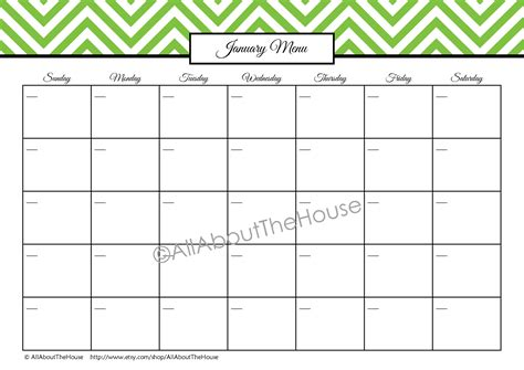 printable meal planner monthly weekly meal planner printable allaboutthehouse printables