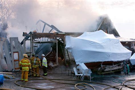 falmouth fire boat falmouth boat yard fire jan 2012
