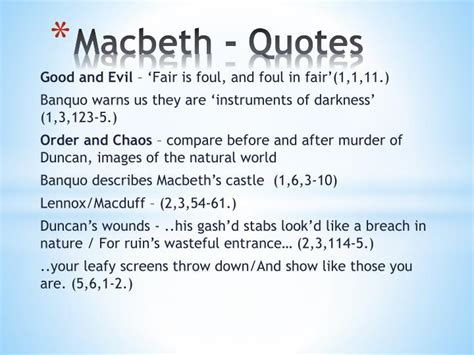 macbeth themes and supporting quotes macbeth quotes quotesgram