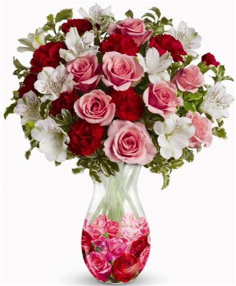 three colored valentines day bouquet jpg