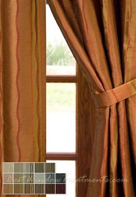 pumpkin colored curtains rockafeller stripe drapery panels bestwindowtreatments