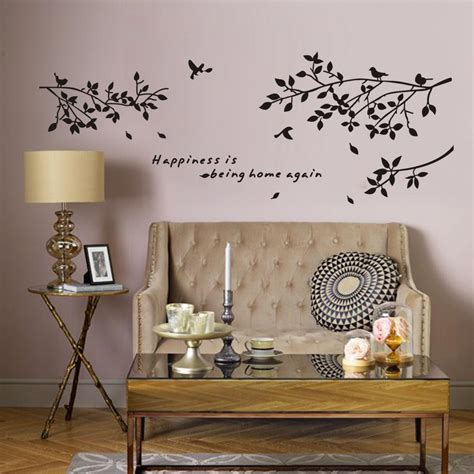 happiness   home  vinyl quotes wall stickers